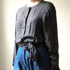 Max Mara wrap blouse